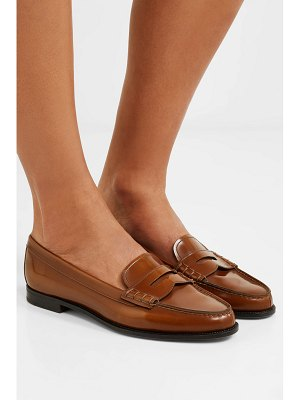 CHURCH'S kara glossed-leather loafers