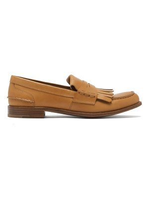CHURCH'S odessa fringed leather penny loafers