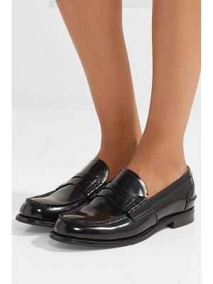 CHURCH'S pembrey glossed-leather loafers