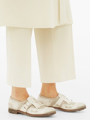 CHURCH'S shanghai w distressed leather loafers