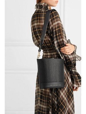 Chylak cylinder small woven leather shoulder bag