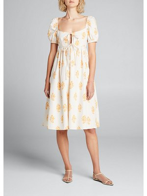 Ciao Lucia Alessia Printed Tie-Front Dress