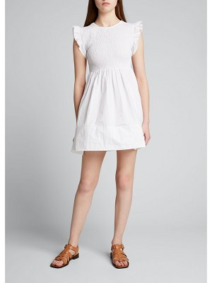 Ciao Lucia Camilla Smocked Flutter-Sleeve Dress