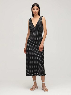 Ciao Lucia Caterina print silk midi dress