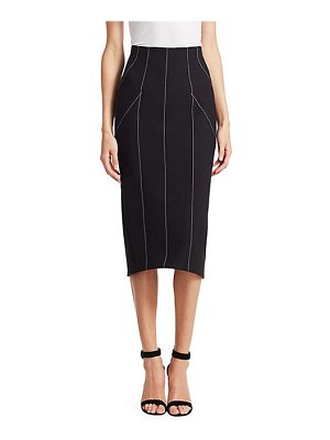 Cinq a Sept ali contrast stitch pencil skirt