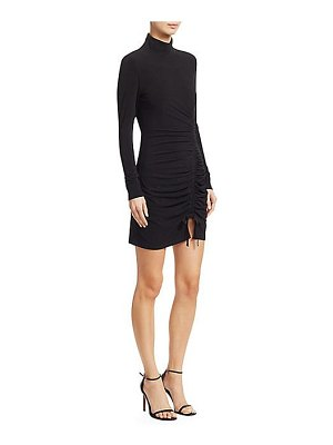 cinq à sept alina long-sleeve ruched jersey bodycon dress
