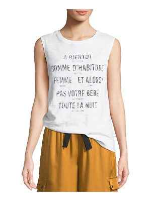 Cinq a Sept Alita Graphic Muscle Tank