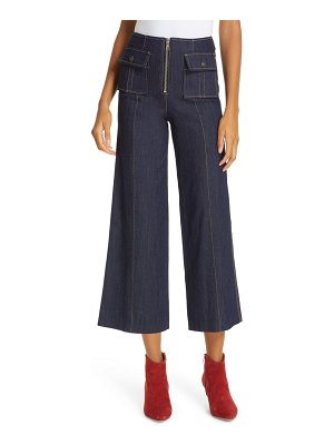 Cinq a Sept azure crop wide leg jeans