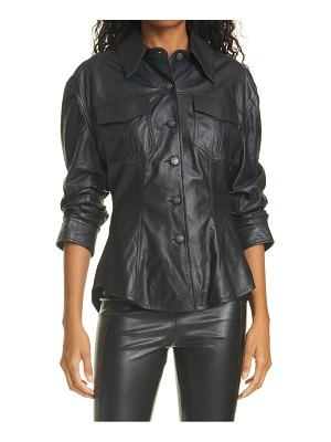 Cinq a Sept canyon scrunched leather jacket