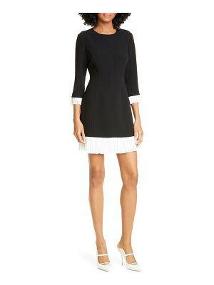 Cinq a Sept catriona contrast trim minidress