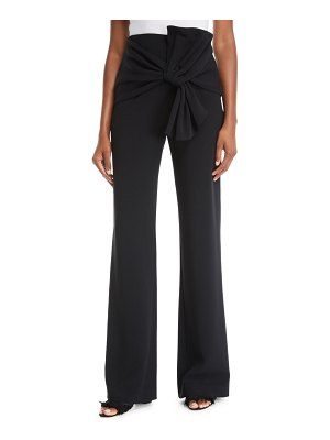 Cinq a Sept Connor Crepe Tie-Front Wide-Leg Pants