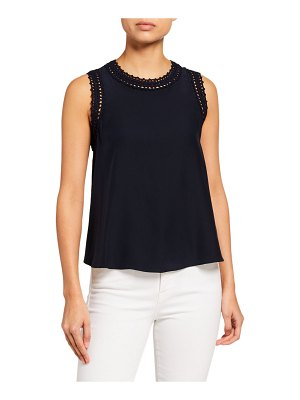 Cinq a Sept Ellina Lace-Trim Tank