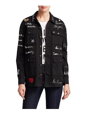 Cinq a Sept embroidered love letter canyon jacket