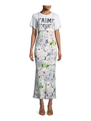 Cinq a Sept Emmalyn V-Neck Multi-Print Silk Dress