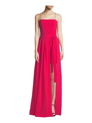 Cinq a Sept Gianni Draped Sleeveless Crepe Gown