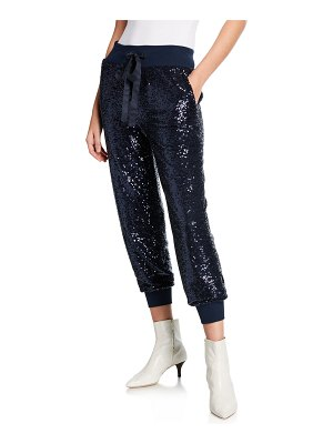 Cinq a Sept Giles Sequined Pull-On Jogger Pants