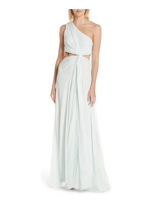 Cinq a Sept goldie one-shoulder silk gown