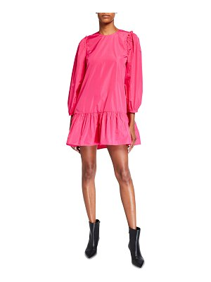 Cinq a Sept Jackie Long-Sleeve Mini Dress