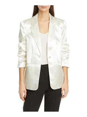 Cinq a Sept kylie hammered satin jacket