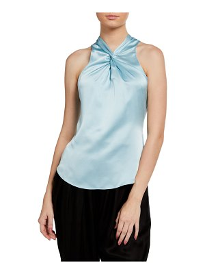 Cinq a Sept Lauren Sleeveless Twist-Front Top