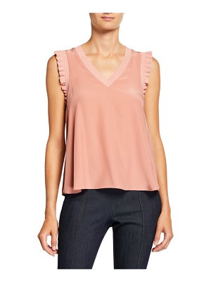Cinq a Sept Lenore V-Neck Sleeveless Top