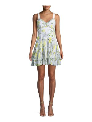 Cinq a Sept Livia Floral-Print Ruffle Mini Dress