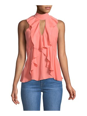 Cinq a Sept Moma Recut Sleeveless Silk Top