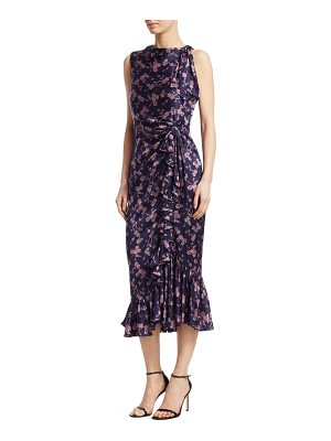 Cinq a Sept nannon floral silk midi dress