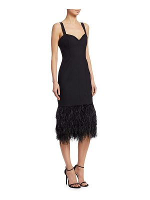 Cinq a Sept sabine feather midi dress