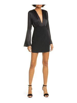 Cinq a Sept sandy mixed media long sleeve minidress