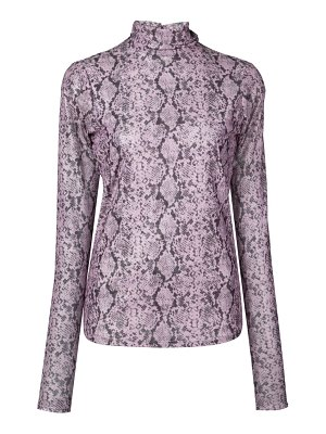 Cinq a Sept snake print turtleneck top