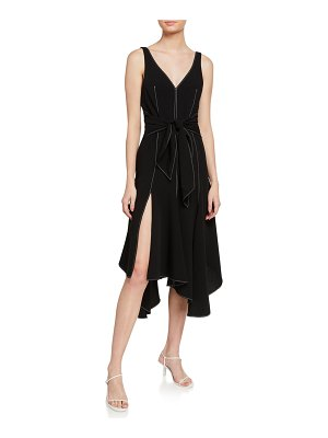 Cinq a Sept Stasia Tie-Front Sleeveless Dress