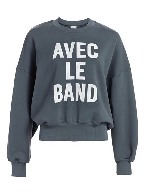cinq à sept with the band sweatshirt