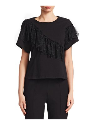 Cinq Sept Mia Lace-Trimmed Tee