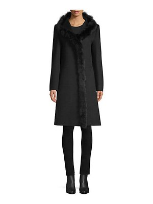 Cinzia Rocca fur trimmed wool walker coat