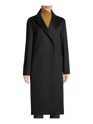 Cinzia Rocca Notched-Collar Button-Front Mid-Length Cashmere Coat
