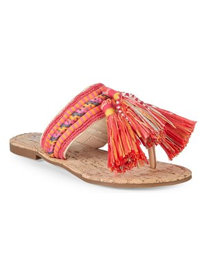 Circus by Sam Edelman Bella Fabric Tassel Thong Sandals