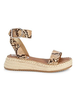Circus by Sam Edelman Embossed Snake-Print Sandals