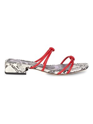 Circus by Sam Edelman Jay Snake-Print Sandals