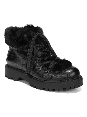 Circus by Sam Edelman Kilbourn Faux Fur-Trimmed Lace-Up Booties