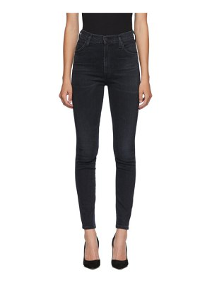 Citizens of Humanity black chrissy skinny jeans