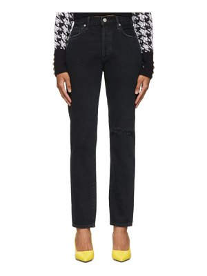 Citizens of Humanity black liya high-rise classic-fit jeans