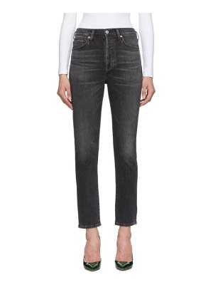 Citizens of Humanity black olivia high-rise slim ankle jeans