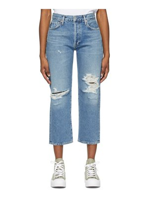 Citizens of Humanity blue emery crop jeans