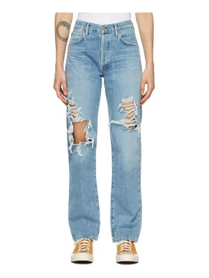 Citizens of Humanity blue emery mid-rise relaxed jeans