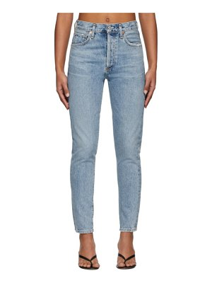 Citizens of Humanity blue liya high-rise classic fit jeans