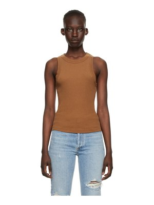 Citizens of Humanity brown rib isabel tank top