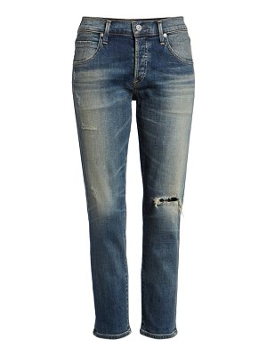 Citizens of Humanity elsa ripped crop slim jeans