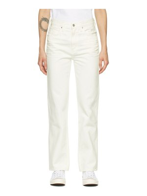 Citizens of Humanity white daphne high-rise stovepipe jeans