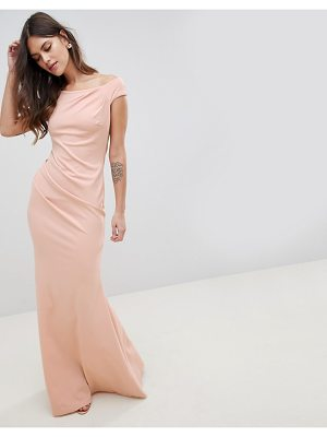 City Goddess Fishtail Maxi Dress With Pleating Detail